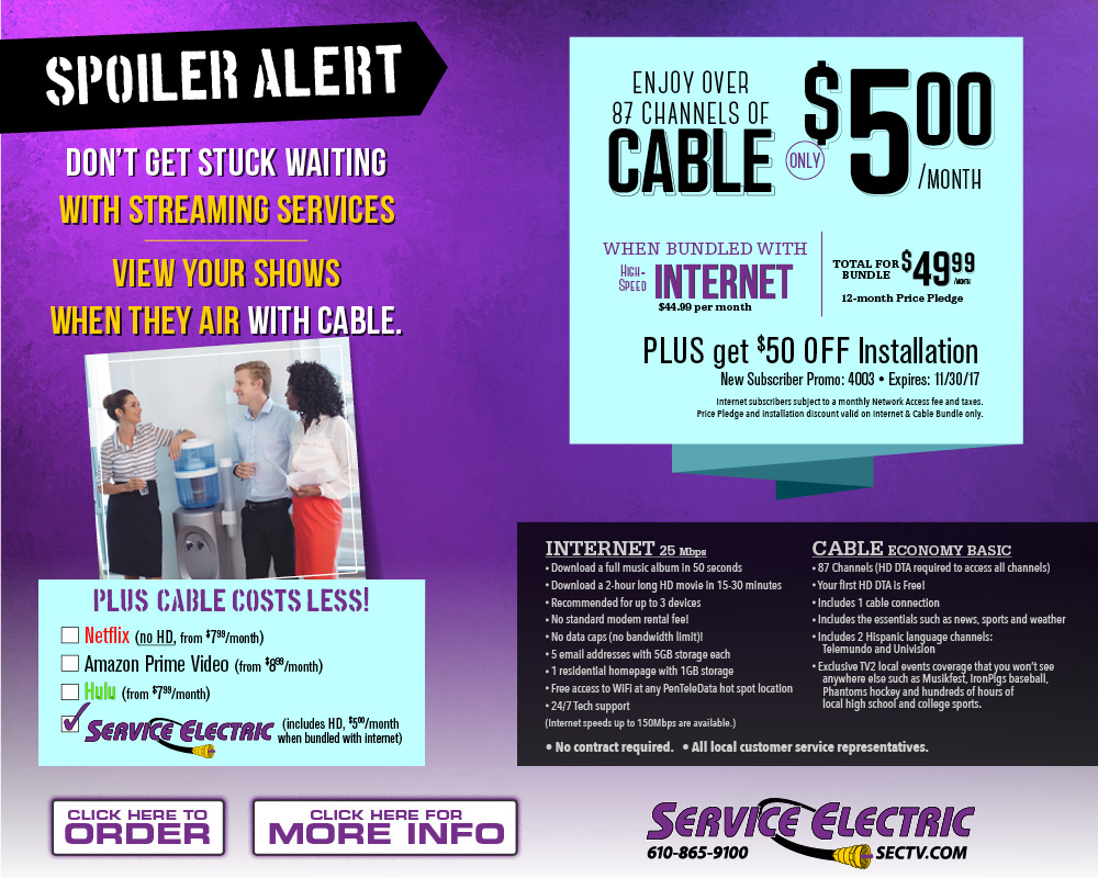 Service Electric Cable TV And Communications